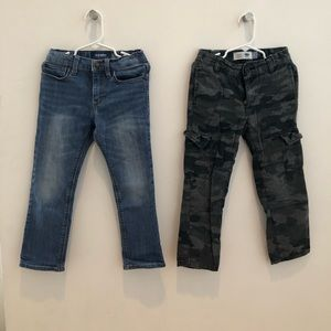 Set of 2 Boys Bottoms- Jeans and Cargo Pants Sz 5T